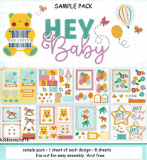DOVECRAFT PREMIUM 8 X 8 DIE CUT DECOUPAGE SAMPLE PACK - HEY BABY - 8 SHEETS