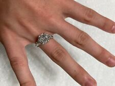 hand ring with .33ct. diamonds 2.02 ct. center diamond engagement/cocktail/right