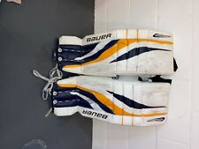 """New listing bauer reactor 4000 goalie leg pads senior 33"""" +1 used - good condition"""