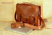 New Men's Leather Messenger Shoulder Business Work Briefcase Laptop Bag Handbag