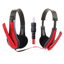 Red Gaming Headset Surround Stereo Headband Headphone USB 3.5mm with Mic for PC