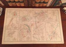 Original Antique Civil War Map BATTLE of WILDERNESS Virginia STONEWALL JACKSON