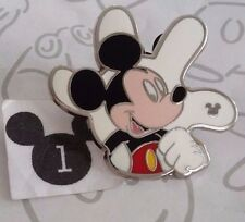 Mickey Mouse White Glove Silhouette 2013 Hidden Mickey Disney Pin Buy 2 Save $