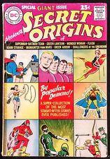 GIANT SECRET ORIGINS 1961 REPRINTS OF EXPENSIVE D.C. ORIGINS GD,LOOKS BETTER