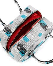 New With Tag $3180 Prada Daino St. Lips Inside Bag, White/Blue (Bianco+Azzuro)
