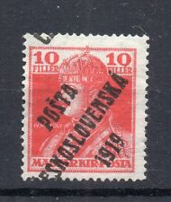 CZECHOSLOVAKIA  1919, MH  , HUNGARY  STAMPS  SHIFT OVERPRINT