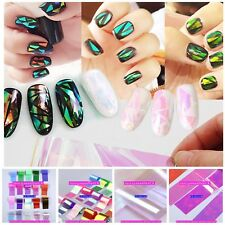 Nail Art Transfer Foil Polish Decal Tip Decoration 20pcs Stickers Easy DIY Wrap
