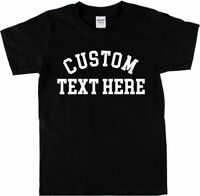 Custom Printed College Style T-Shirt - Personalised, Retro Various Colours S-XXL