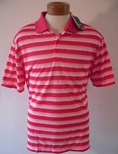 NWT Nike Golf Mens Tech Vent Stripe Polo Shirt S Daring Red/Hot Lava MSRP$65