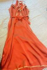 Rust orange halter dress, size medium, 1940s vintage style, EUC, summer wedding!