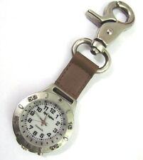 VTG REMINGTON Chroma Glo Clip On Pocket Watch Light Up Dial 38-171 Key chain