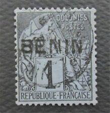 nystamps France Benin Stamp # 1 Used $170 Signed    O22y3286