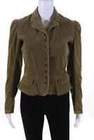 Ralph Lauren Blue Label Womens Cotton Button Down Pioneer Jacket Green Size 4
