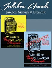 Wurlitzer 1500, 1550, 1500-A, 1550-A Service Manuals  Parts Catalog,  Supplement