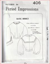 Period Impressions #406 Woman's Basic Bodice Pattern Sizes 12~16