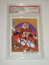 DERRICK THOMAS (KC Chiefs) Signed 1991 UPPER DECK Card #80 PSA Certified