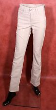 GJ9-75 MAC Angela Damen Jeans Hose Slim Fit  beige Gr. 34 L32 gerades Bein