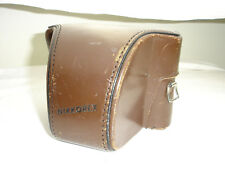 Nikon Nikkorex Nippon Kogaku Brown Leather Hard Case only  #002367