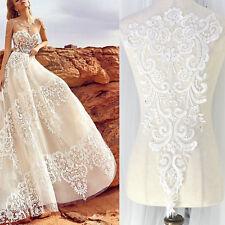 Ivory Floral Lace Appliques Delicate Wedding Trim Embroidery applique Collar