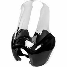 Black Front Fairing For Harley-Davidson Club Style Dyna Super Glide FXR T-Sport