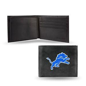 Detroit Lions NFL Embroidered Leather Billfold Bi-fold Wallet ~ New