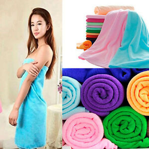 Soft Absorbent Microfiber Large Beach Bath Sheet Wearable Body Wrap Spa Towel