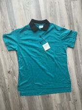 Nwt Vintage Bowling Polo Shirt Mens Medium 34-36 by King Louie Made In Usa Teal