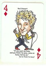 ROD STEWART R&R HALL OF FAME SINGLE SWAP PLAYING CARD