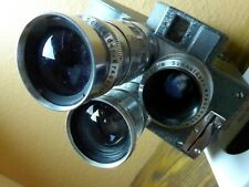 Pathe Super 16mm Movie Camera w/ NM Schneider 100mm Tele Xenar 2.5cm Xenon 1.5 +
