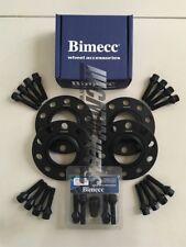 2x8mm + 2x12mm Black Wheel Spacers Black Bolts Locks - Seat Ibiza 2002 - Present