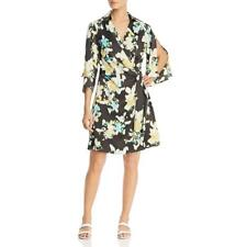 Kenneth Cole New York Womens Collared Print A-Line Wrap Dress BHFO 7455