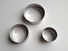 3 pcs Stainless Steel Circle Cutter Dough Cake Cupcake Baking Tools Round Cookie