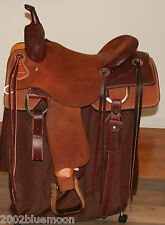 "Jays 16"" Cutting Saddle Tooled Hermann Oak Leather Jeremiah Watt 2016 Model Sale"