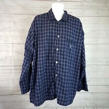 Polo Ralph Lauren Sleepwear Mens Shirt Sz L/XL Blue Cotton Button Front