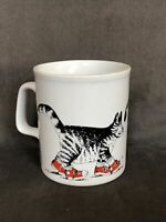 Vintage Kliban Cat Coffee Cup MugRed Shoes Sneakers 10 oz. Made in England