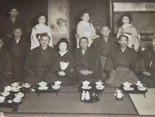 PHOTOGRAPHIE ANCIENNE ORIGINALE JAPON Fête d'Anniversaire 70 ans Cérémoinie 1936