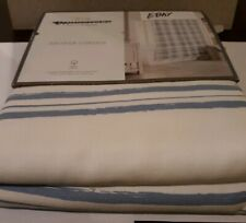 """Threshold Shower Curtain - Blue Variegated Stripe (72""""x72"""") -100% Cotton"""