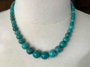 Jay King DTR Green Turquoise Bead Strand Necklace