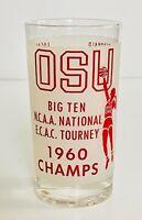 OSU Ohio State Buckeyes 1960 NCAA National Champs Basketball Vintage Glass