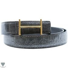 Gray Real Alligator Crocodile Handmade Belt 32mm Width - Belt Size 120cm