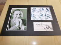 Walt Disney & Mickey Mouse mounted photographs & preprint autograph card
