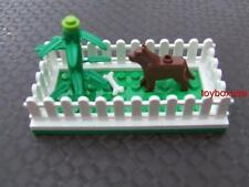 New Custom Lego Base Plate / Puppy Pen / Yard Fence / Dog Bone / Tree