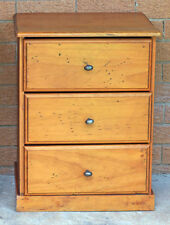 Pine Bedside Tables with 3 Drawers