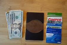 $10.00 OFF HANDMADE MINIMALIST WALLET 3 small ,front back pocket. money clip