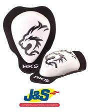 BKS KNEE SLIDERS WHITE RACE TRACK DAY MOTORCYCLE J&S