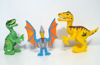 Jurassic World Playskool Heroes Dinosaur Action Figure Bundle Lot of 3 (park)