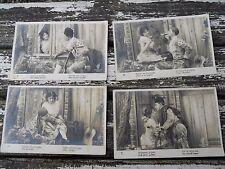 """4 CPA photos couple en habit d'époque """" le guitariste """" , série 853"""