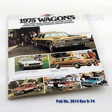 1975 Chevrolet Wagons Dealer Brochure  Uncirculated NOS Vintage Publication 3014