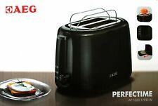 AEG AT 1260-1 Toaster schwarz 2 Scheiben Toaster Doppelschlitz-Toaster 7 Stufen