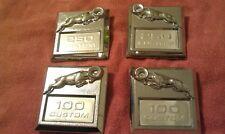 1980-1993 100 CUSTOM AND 250 CUSTOM OEM DODGE RAM/RAM CHARGER FENDER BADGES CHRY